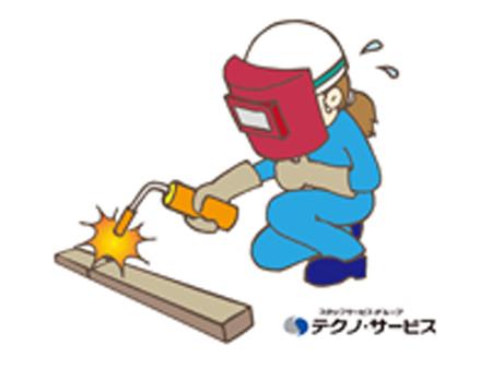 製品の半自動溶接作業[302747]