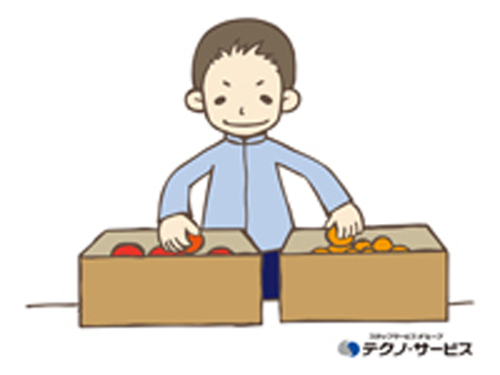 商品の仕分け作業など[403230]
